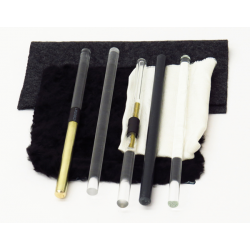 Electrostatic Friction Rod and Fur Set of 8